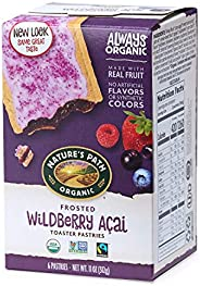 Nature's Path Organic Toaster Pastries, Frosted Wildberry Acai, 6 C