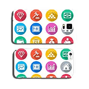 Business and investment flat color icons cell phone cover case Samsung S6