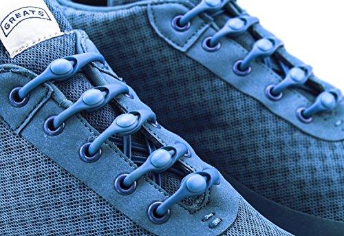 Un Paquete De Hickies Laces, Sujetadores Elásticos De Zapatos. Cyan.