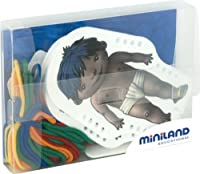 Miniland World Kids Plastic Sewing Shapes