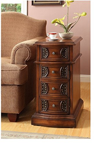 Contemporary Traditional End Table (Traditional Oak Finish Contemporary Rustic Side Table )