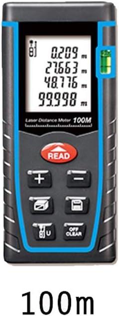 Regla electrónica del Instrumento de Medida infrarrojo del telémetro del del PDA, Medida Industrial de la Distancia del Sitio casero (Tamaño : T-100M)