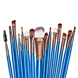 Sandistore 15pcs Makeup Brush Set Make Up Brush professional make up brush case (Blue )