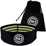Hip Band by Running Heritage | Elastic Exercise Hip Resistance Band for Legs and Butt | For Muscle Toning and Stretching | Non-Slip, Sweat Resistant, Durable and Comfortable Resistance Loop Bands