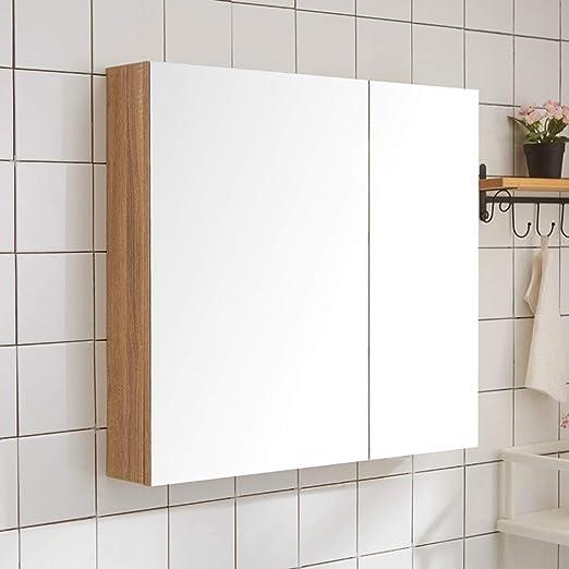 Amazon.de: QWERTY Home Badezimmer Spiegelschrank Mit Ablagen ...