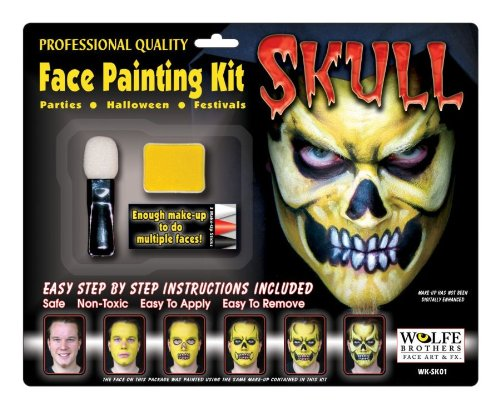 Skull Makeup Kit Wolfe Bros