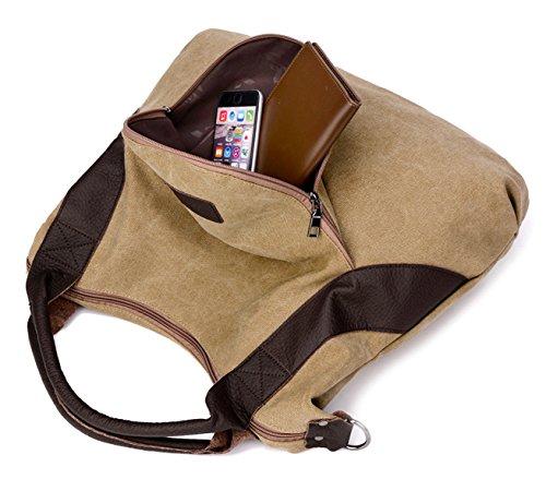Longzibog Dual verstellbare Schultergurte und Hängeschlaufenband Mode Simple Style Fashion Tote Top Handle Schulter Umhängetasche Satchel Lila UUiM3hm