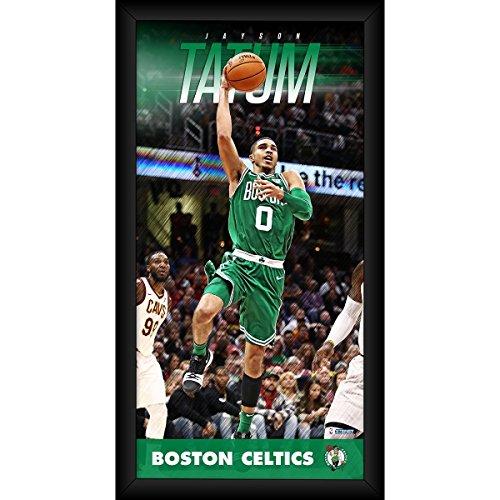 Jayson Tatum Boston Celtics Player Profile Framed 10x20 Photo Collage by Steiner Sports