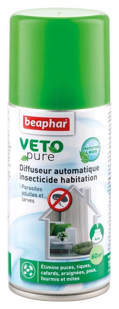 Beaphar - VETOpure, spray insecticide habitation - 400 ml 15796 anti-tique anti-puce larvicide habitation