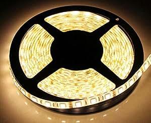 TINNZTES 2M/200CM/6.6 feet 60LED 5050 LED strip Light Battery powered waterproof LED strip (Warmwhite)