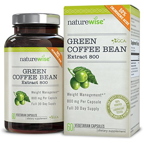 NatureWise Green Coffee Bean Extract with Antioxidants, All Natural Weight Loss Supplement, Helps Maintain Normal Blood Sugar Levels, Non-GMO, 800mg, 60 count 51TRb1mNbHL