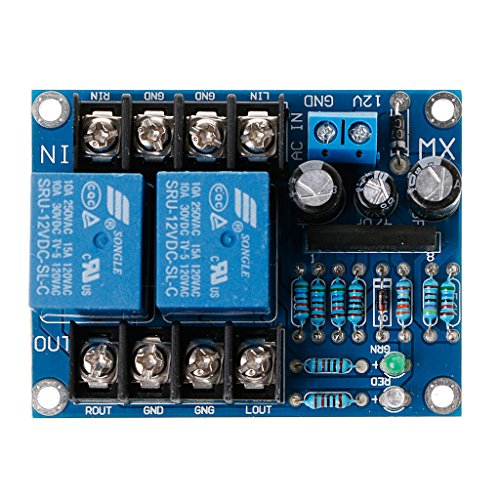 (Forgun UPC1237 Dual Channel Speaker Protection Circuit Board DC 12-24V Boot Mute Delay)
