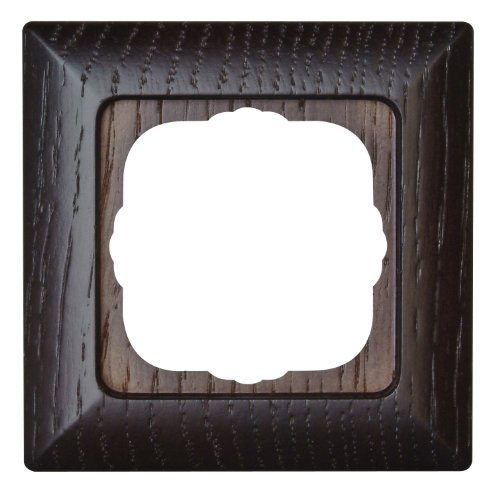 Kopp Milano 306537084 Cover Frame for 1 Sockets for Vertical and Horizontal Mounting Wenge Wood