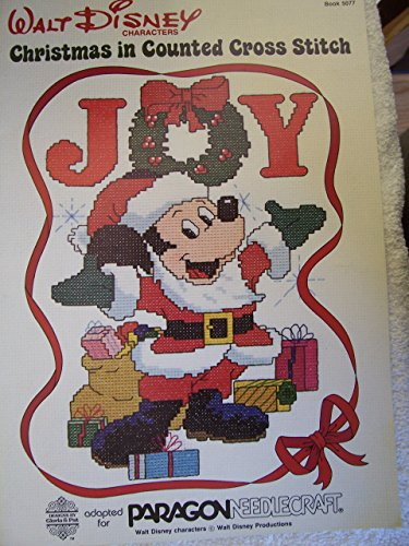 Walt Disney Characters Christmas in Counted Cross Stitch