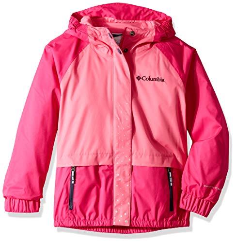 Columbia Girls Splash S'More Rain Jacket, Haute Pink, Wild Geranium, X-Small