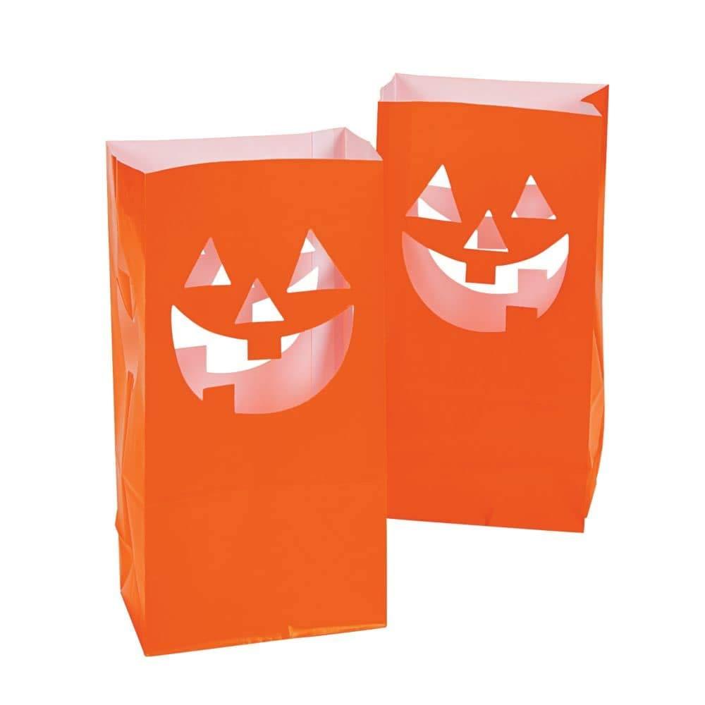 Jack-O'-Lantern Luminary Bags by Fun Express