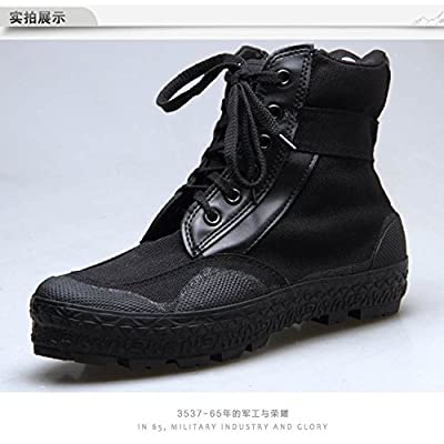 des bottes hautes bottes de camping, les chaussures en toile noire