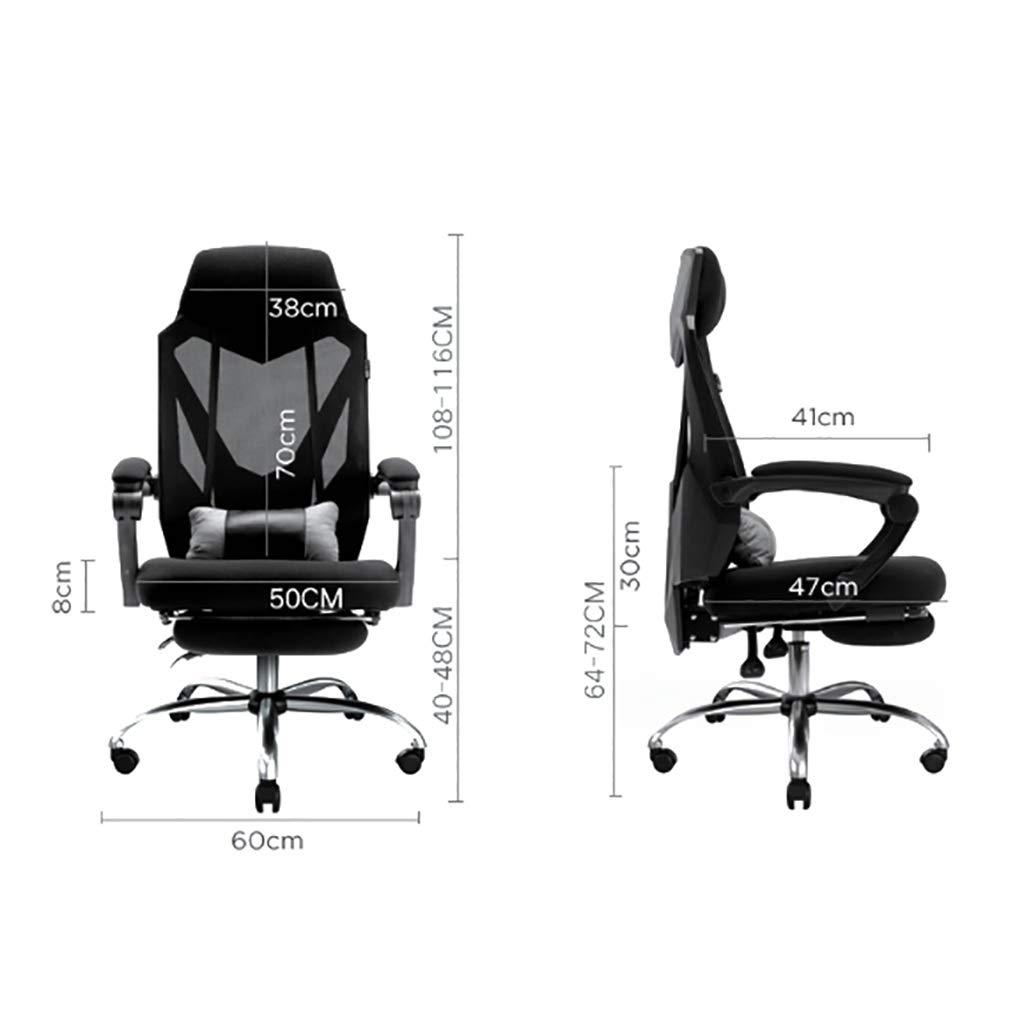 Skrivbordsstolar datorstol hem spelstol spelstol ryggstöd säte svängbar stol bekväm stillasittande vilande kontorsstol tv-spel stolar (färg: E) F