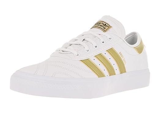 Adidas Men's Adi-Ease Premiere Away Day Ftwwht/Goldmt/Gum4 Skate Shoe 10.5