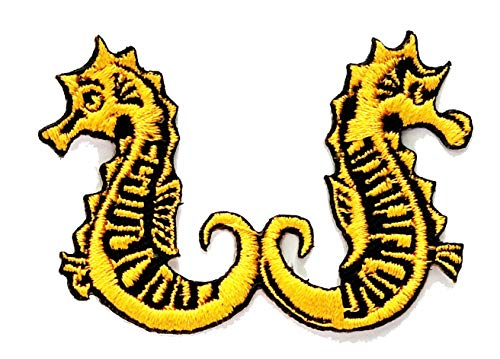 Nipitshop Patches Yellow Seahorse sea Horse Fish