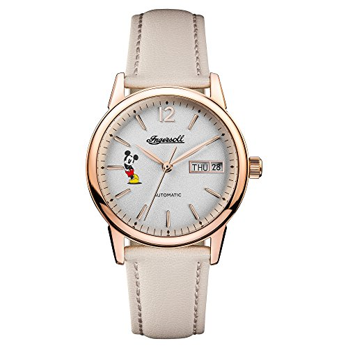 Ingersoll Women's Automatic Stainless Steel and Leather Casual Watch, Color:White (Model: ID01102)
