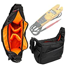Nylon Rucksack With Adjustable Interior & Rain Cover for Fluke T5-1000 Electrical Tester and Fluke T5-600 Electrical Tester -by DURAGADGET