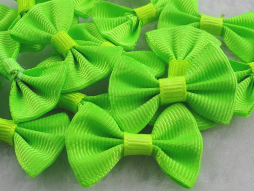 (YAKA 60PC Grosgrain Ribbon Mini Bow Ties Craft ,Scrapbooking Embellishmen DIY Projects,Bowties Decorations for DIY Kids Hair Clips,Pets Hair Bows(1.38