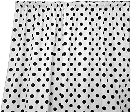 lovemyfabric Cotton Polka Dot Print Curtain Panel 58″ Wide Home Decor/Window Treatment/Photography Backdrop/Photo-Booth Backdrop Black on White 120″ Tall - the best window curtain panel for the money