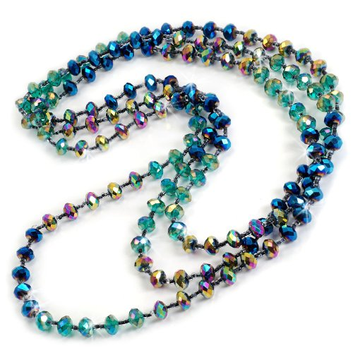 Sweet Romance Iridescent Glass Beads Necklace (Iridescent Signed)