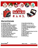 First Aid Kit -160 Pieces Compact and Lightweight - Including Cold (Ice) Pack, Emergency Blanket, Moleskin Pad,Perfect for Travel, Home, Office, Car, Camping, Workplace