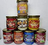 Smoke Odor Exterminator 13 oz Jar Candles Sandalwood Assorted, (8) Includes Sandalwood, Nag Champa, Pumpkin Spice, Sippin' Sangria, Vanilla Glitz, Apple Orchard, Cinnamon Apple & Fall'N Leaves.