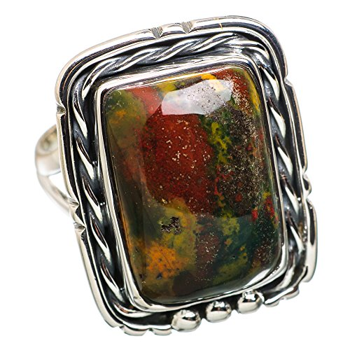Ana Silver Co Rare Bloodstone 925 Sterling Silver Ring Size 8.75 RING835788