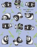 drawing styles - Make Your Style Sketchbook: Panda Sketchbook Volume 1 (Blank Paper for Drawing) - Practice Drawing, Sketching, Doodling, Journal, Sketch Pad - 120 pages of 8.5