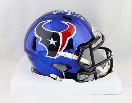 Amazon.com: Lamar Miller Autographed Houston Texans Chrome Mini ...
