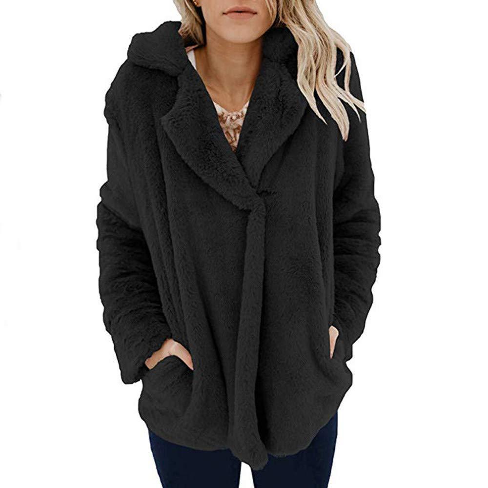 ❤ Abrigo de Felpa de Las Mujeres, Chaqueta Casual Invierno cálido Parka Outwear Abrigo de Las señoras Capa Exterior Sudadera Absolute: Amazon.es: Ropa y ...