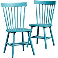 Sauder Cottage Road Slat Back Blue Chair (Set of 2)