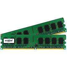 Crucial 4GB Kit (2GBx2) DDR2 800MHz (PC2-6400) CL6 Unbuffered UDIMM 240-Pin Desktop Memory CT2KIT25664AA800