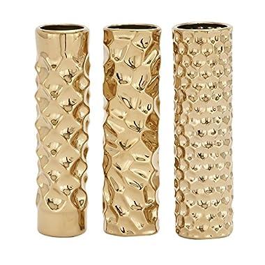 Deco 79 92589 Ceramic Vase, 3 Assorted, 3 by 12
