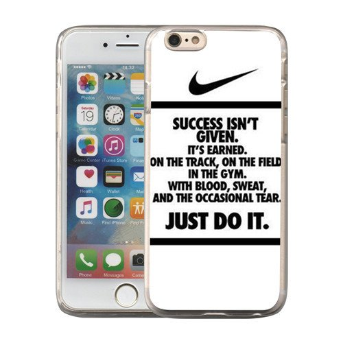 Just Do it Nike logo image Custom iPhone 6 6S 5.5 Plus PC Individualized Hard Case PC transparent style - Contact Canada Us Paypal