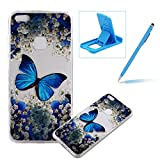 TPU Case for Huawei P10 Lite,Clear Case for Huawei P10 Lite,Herzzer Ultra Slim Stylish [Colorful Pattern] Soft Silicone Gel Bumper Cover Flexible Crystal Transparent Skin Protective Case