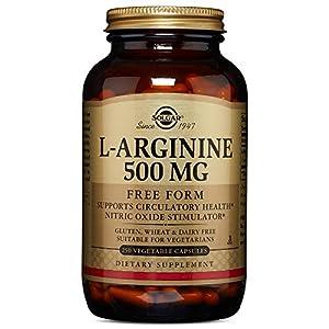 Solgar – L Arginine 500 mg, 250 Vegetable Capsules