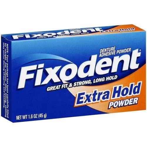 Fixodent Denture Adhesive Powder Extra Hold 1.60 oz (Pack of 12)