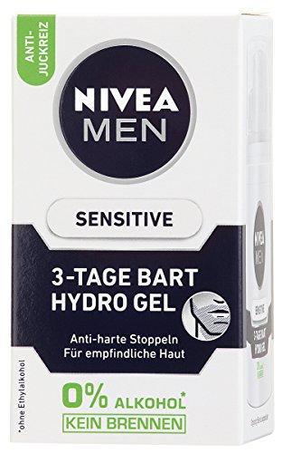 Nivea Men 3 Tage Bart Hydro Gel, Sensitive Gesichtspflege, 1er Pack (1 x 50 ml)