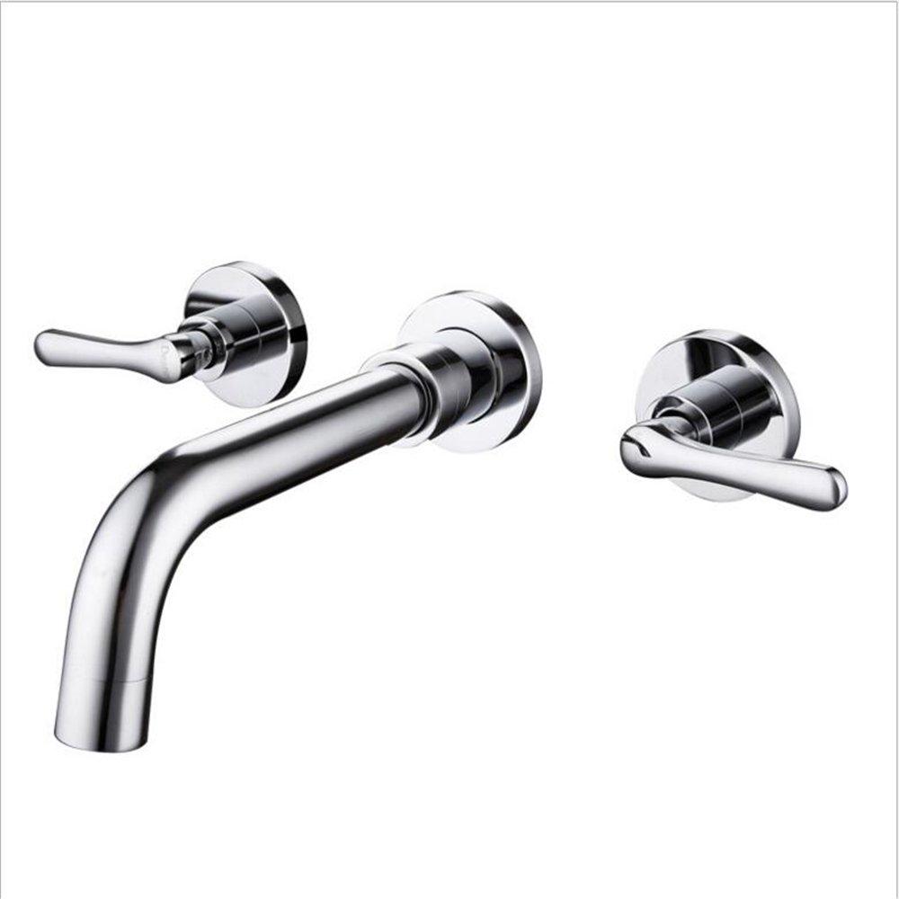 ADMKK Alle Kupfer verborgen Kaltwandarmatur Waschtischarmatur Badezimmer tippt die doppelte Vier-Augen- ( Größe   D )