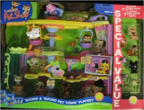 Littlest Pet Shop Display & Play Round with 7 Extra Pets! Special Value