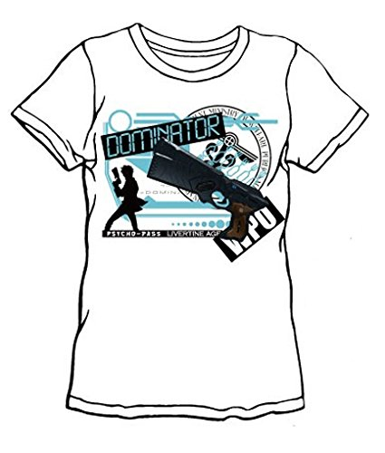 LIVERTINEAGE×PSYCHO-PASS コラボTシャツ DOMINATOR WHT サイズ:M