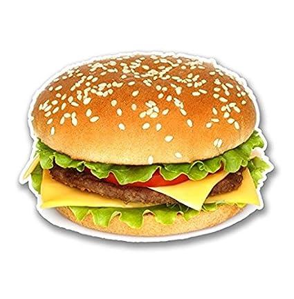 Amazon com: 3 Pack - Cheeseburger Burger Vinyl Sticker Decal