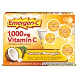 Emergen-C (30 Count, Coconut Pineapple Flavor) (Pack of 12) Dietary Supplement Fizzy Drink Mix with 1000mg Vitamin C, 0.32 Ounce Packets, Caffeine Free Review