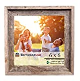 BarnwoodUSA Rustic Farmhouse Signature Picture Frame Our 6x6 Picture Fr Deal (Small Image)