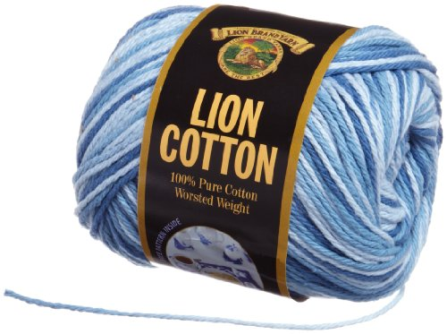Lion Brand Yarn 760-210C Lion Cotton Yarn, Denim -